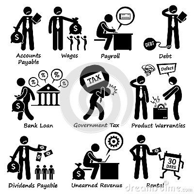 Company Business Liability Pictogram Clipart Stock Vector.