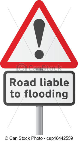 Clipart Vector of English road sing.