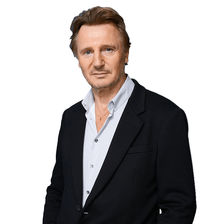 Liam Neeson Portrait transparent PNG.