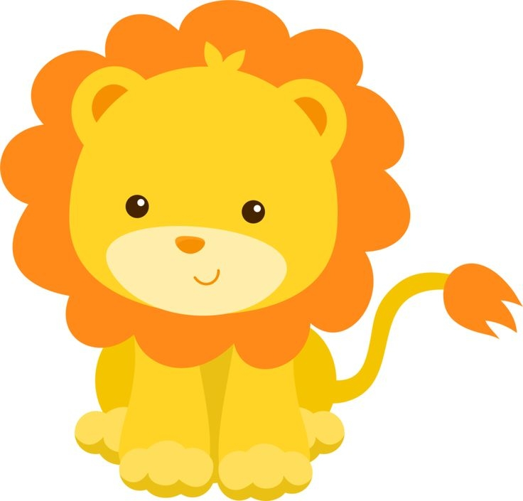 Cute lion clip art.
