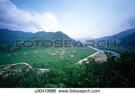 Stock Images of the ancient pyramid tombs,the Wandushan City Site.