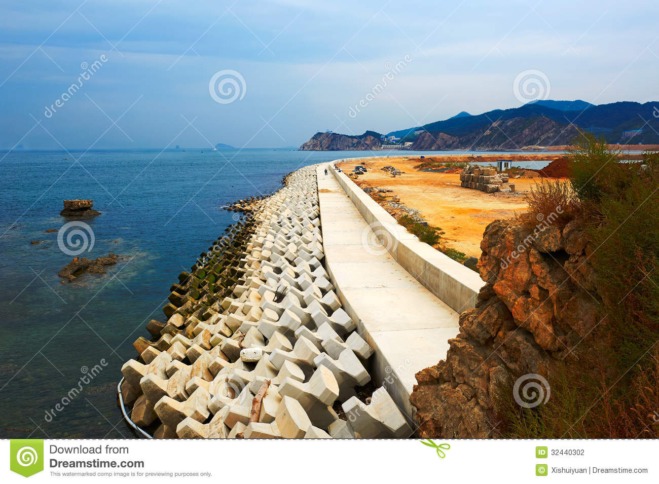 The Coast Landscape Dalian Stock Photography.