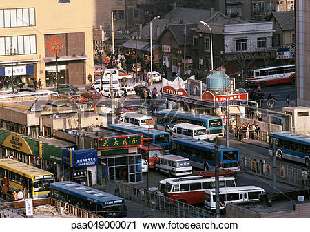 Stock Photography of China, Liaoning Province, Dalian, streets.