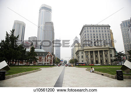 Stock Photography of China, Liaoning Province, Dalian, Zhongshan.