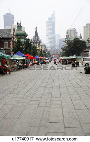 Picture of China, Liaoning Province, Dalian, Russian Street.