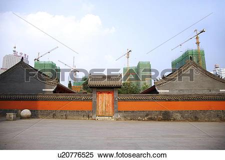 Stock Image of China, Liaoning Province, Shenyang, Ancient houses.