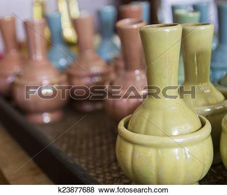 Pictures of ceramic bottle for libation ceremony k23877688.