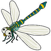 Dragonfly Scene Clipart.