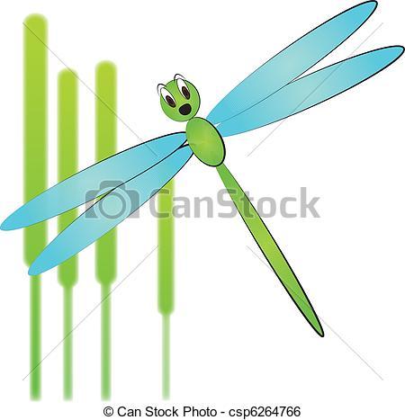 Clipart vettoriali di libellula.