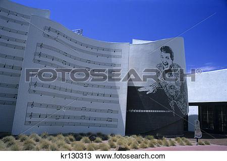 Stock Photo of Liberace Museum Las Vegas Nevada kr130313.