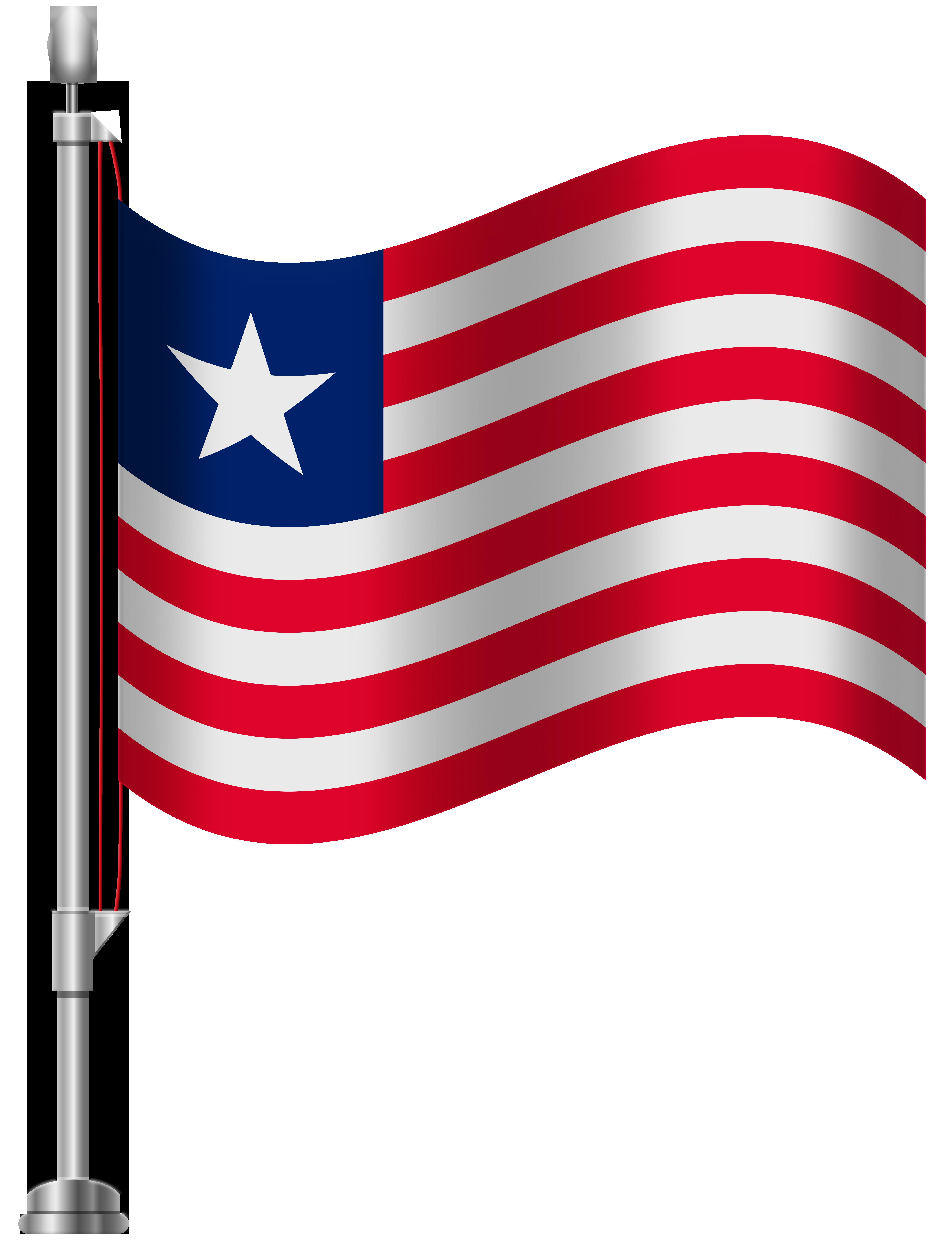 Liberia Flag PNG Clip Art.