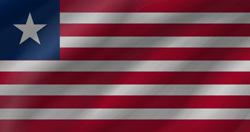 Liberia flag clipart.