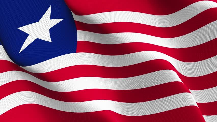 Free Liberia Flag 4K Motion Loop Stock Video.