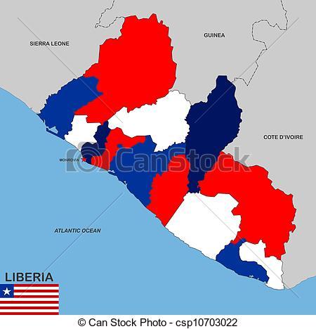 Clip Art of liberia map.