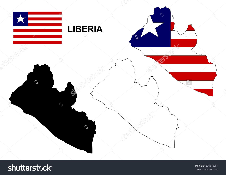 Liberia Map Vector Liberia Flag Vector Stock Vector 326616254.