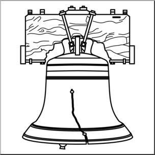 Clip Art: Liberty Bell B&W I abcteach.com.