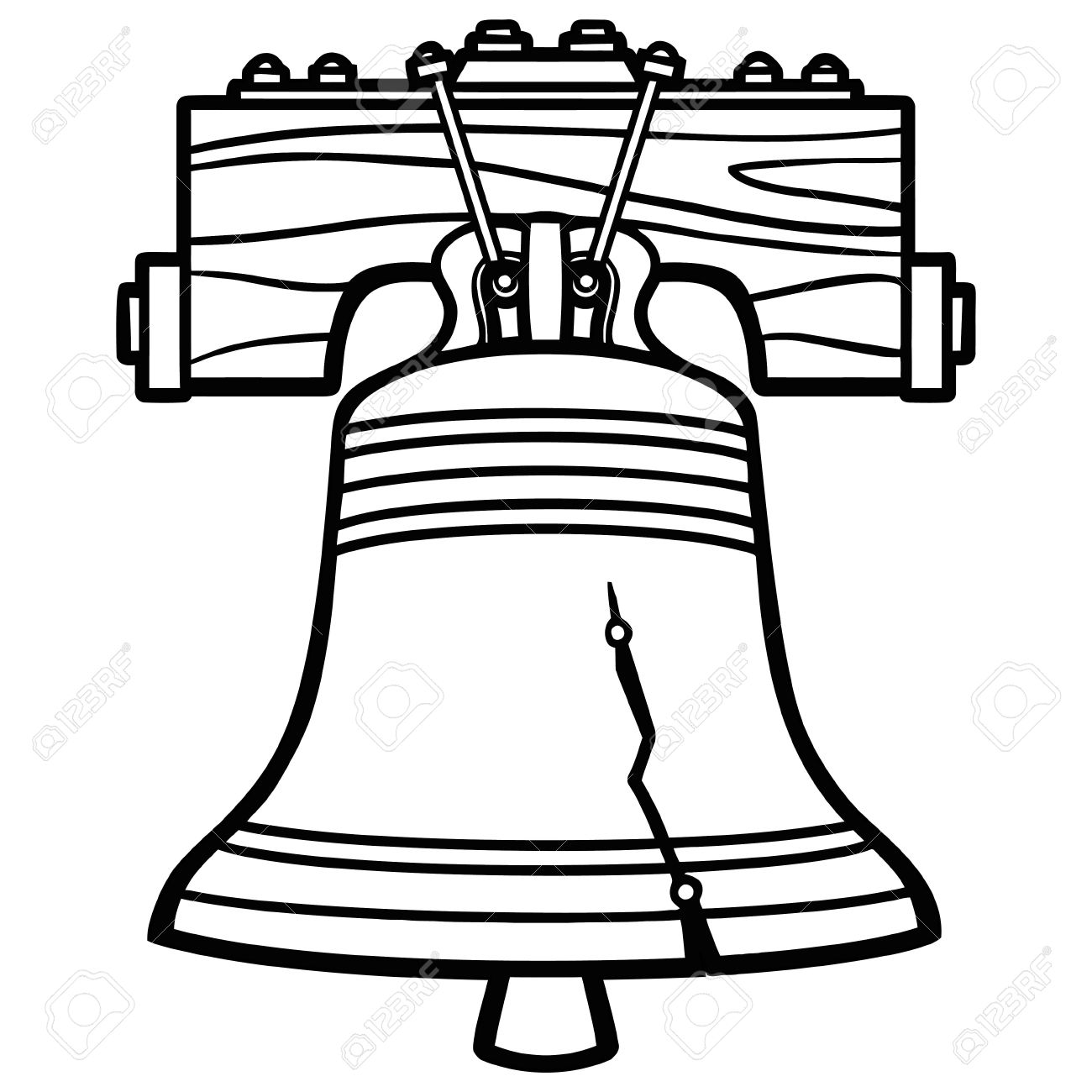Bell Clipart Black And White.
