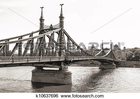 Stock Images of Liberty Bridge in Budapest k10637696.