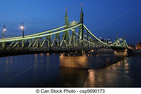 Stock Photos of Liberty bridge, Budapest.