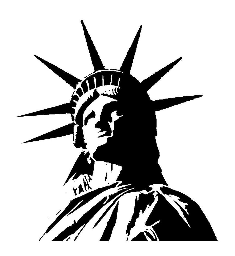 clipart statue of liberty silhouette - Clipground