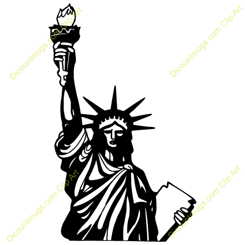 Statue Of Liberty Silhouette Clipart.