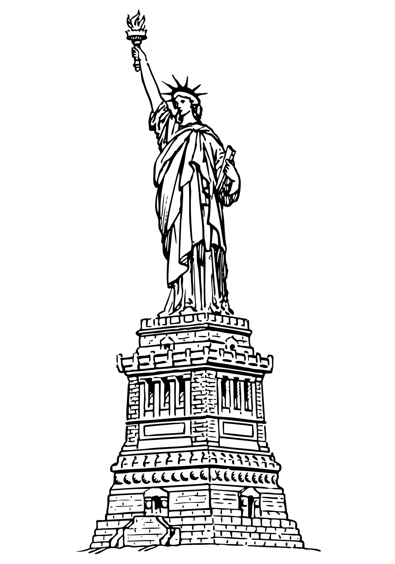 Statue Of Liberty Clipart Free Stock Photo.