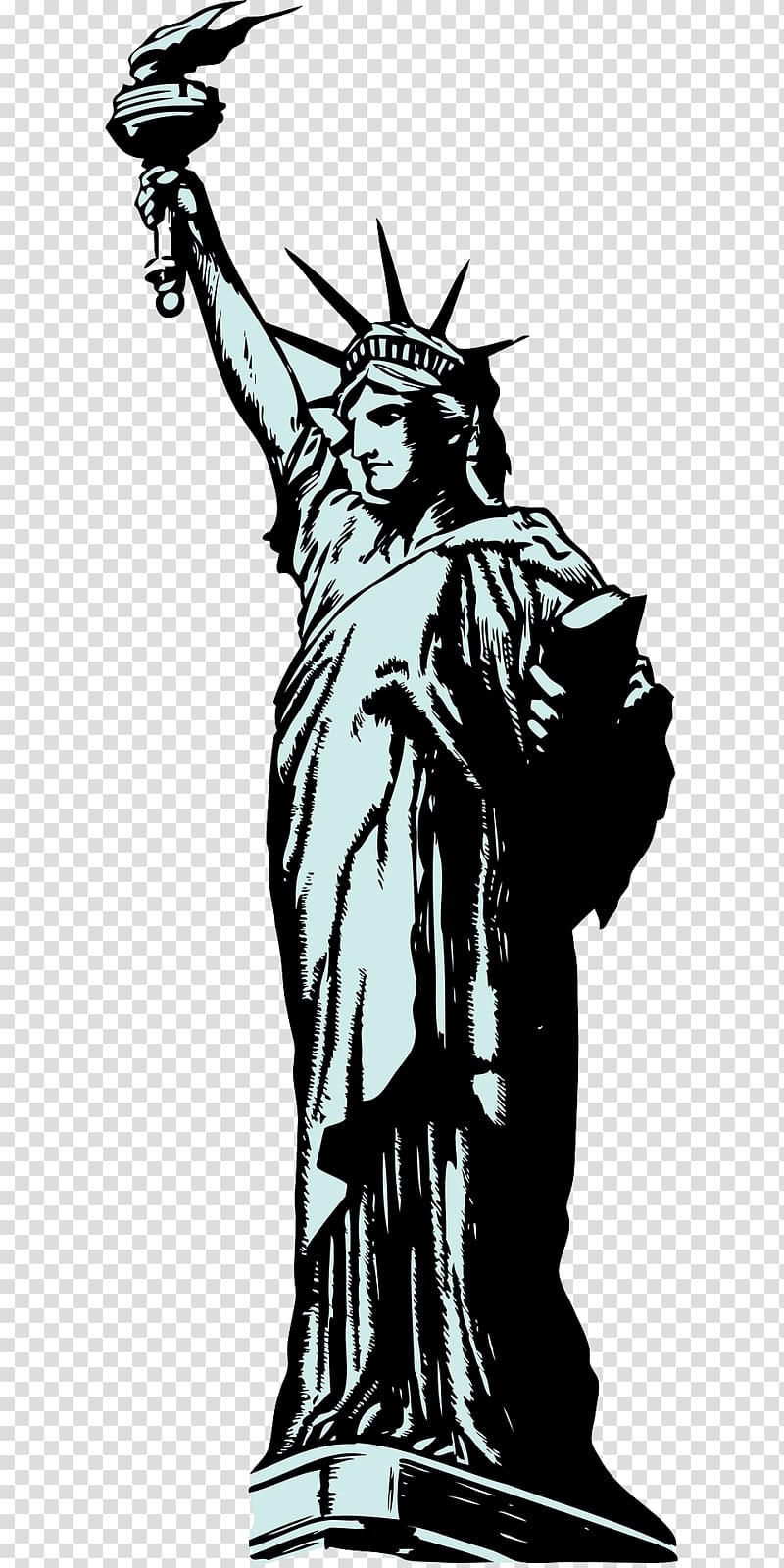 Statue of Liberty , The torch of the goddess transparent.