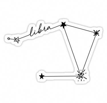 Libra Constellation Drawing Sticker Sticker #smalltattoos.