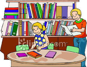 Clip art of library.