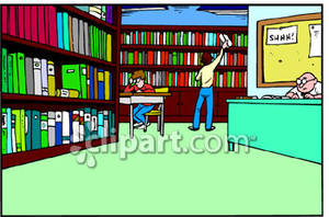 Libraries Clip Art.
