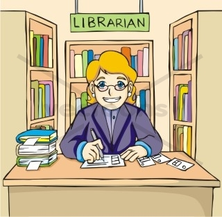 Library In School Clipart.