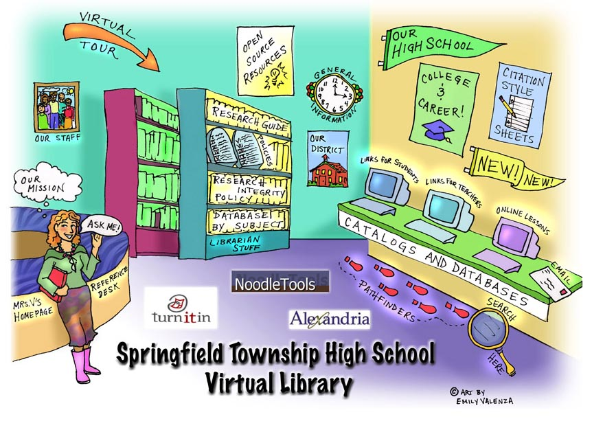 High School Library Clipart.