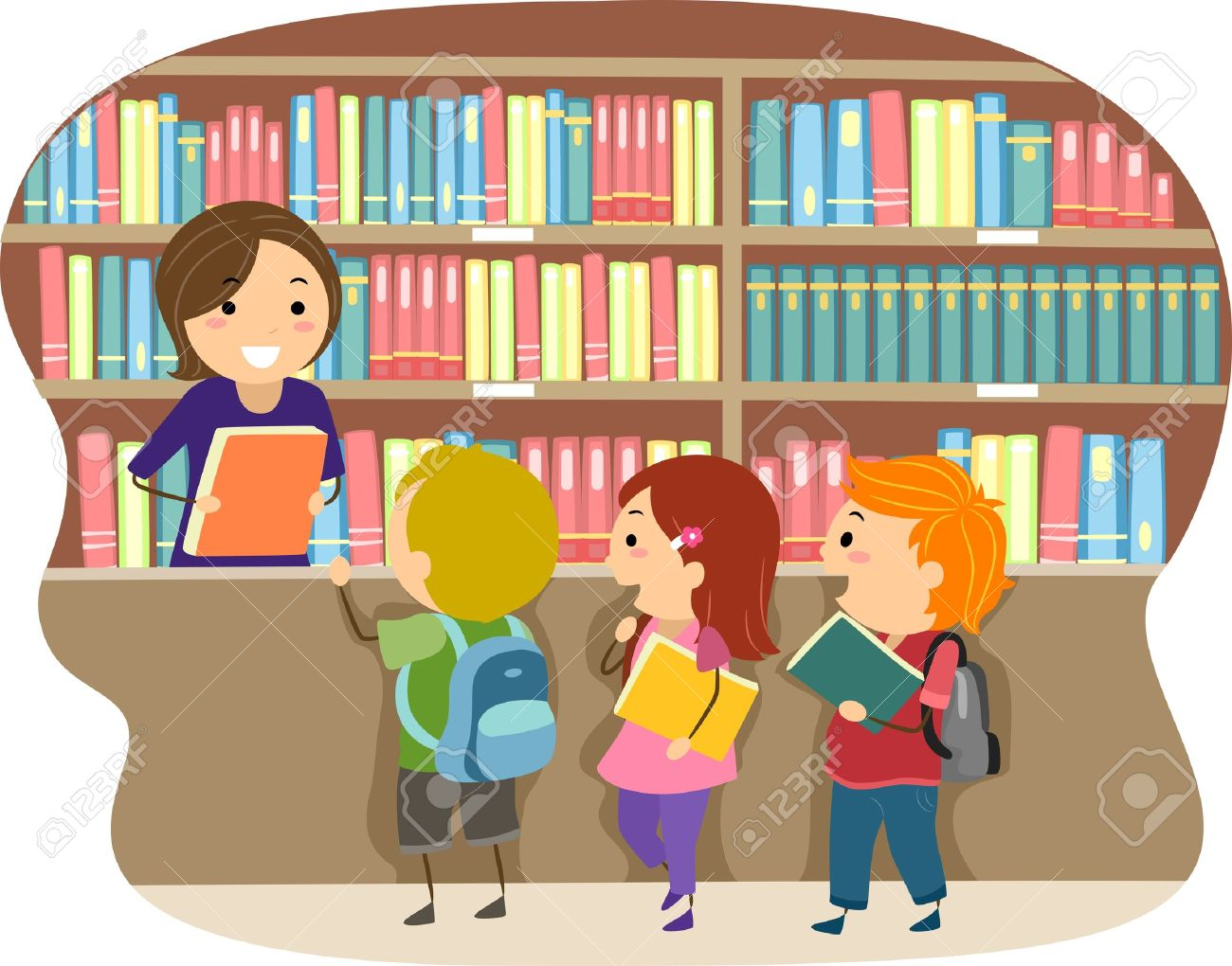 School Library Journal Clipart.