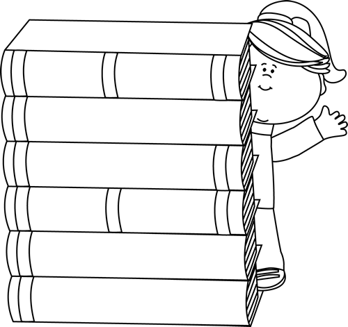 Reading Books Clip Art.