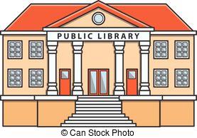 Library building clip art.