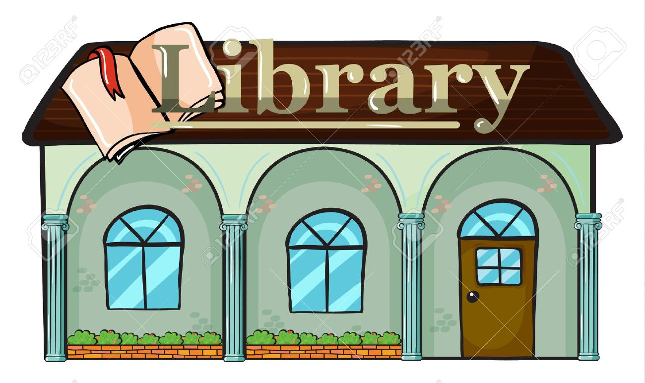 Library Building Clipart