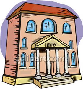 library building clip art.