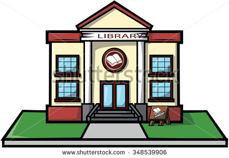Showing post & media for Cartoon library building clip art.