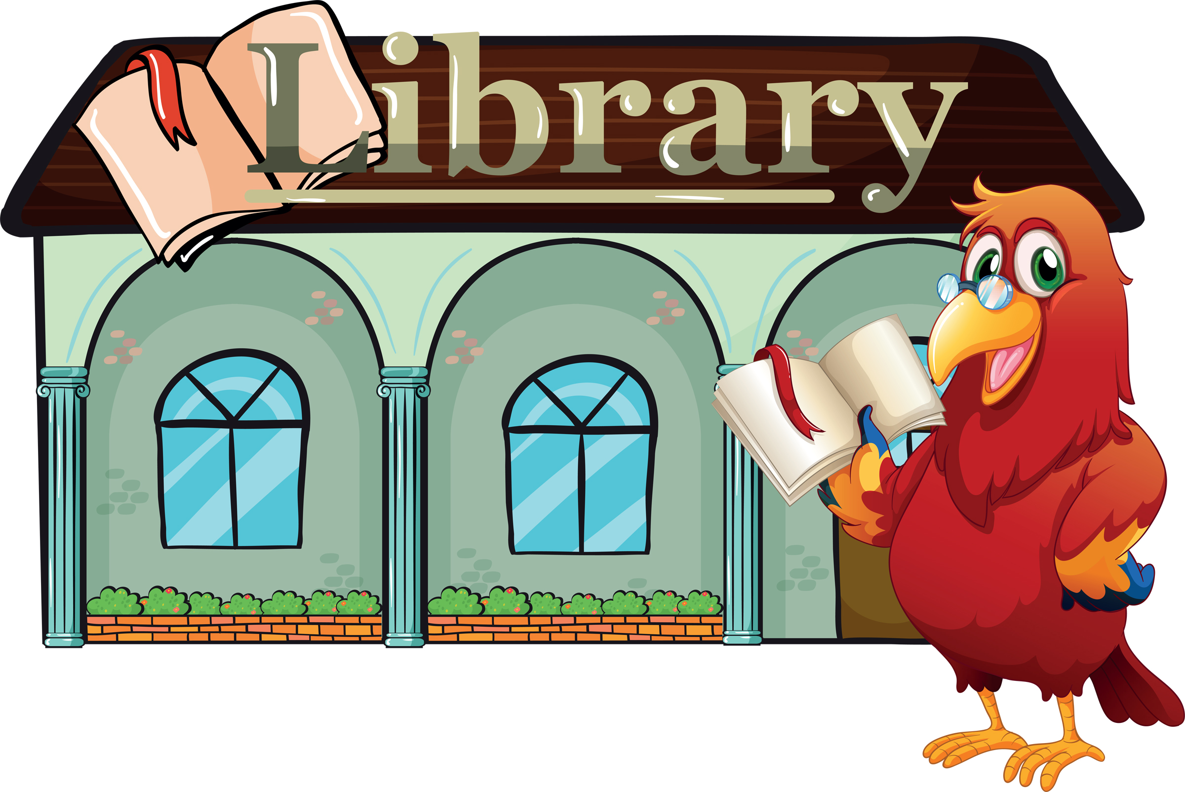 Library Building Clip Art — Garnavillo Public Library.