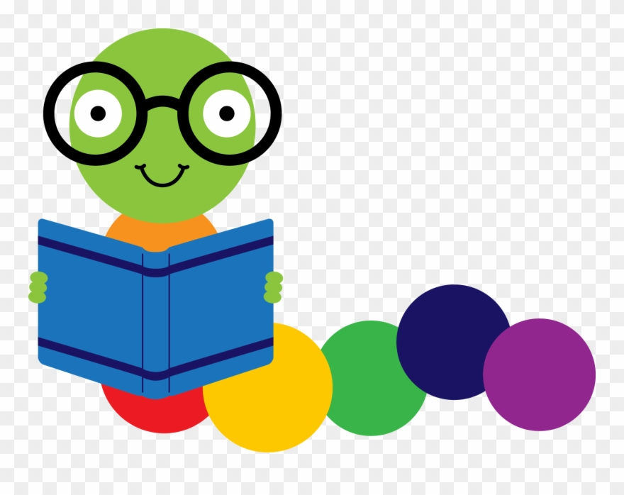 Library Clipart Bookworm.