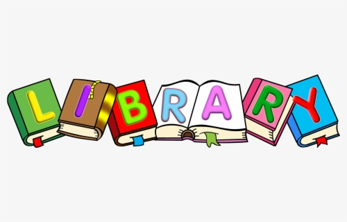 Free Library Books Clip Art with No Background.