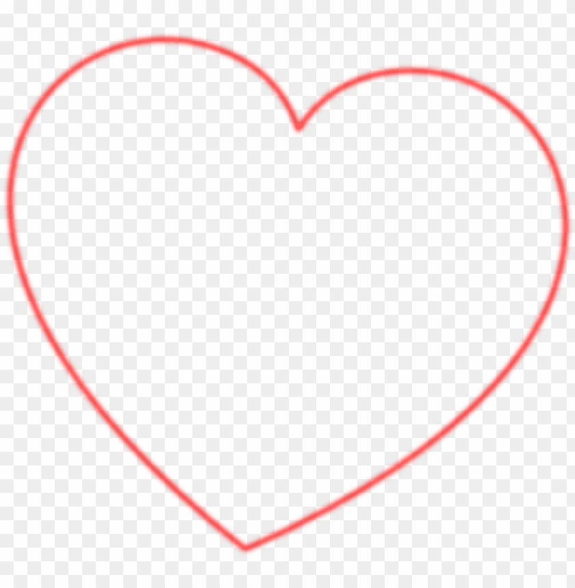 red outline heart 7degree clip art at clipart library.
