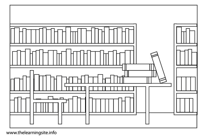 School library clipart black and white 4 » Clipart Station.