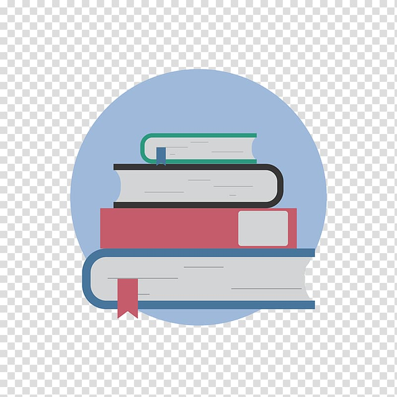 Book stack, Book Reading Library Icon, Books transparent.