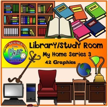Library/Study Room Clipart (My Home Series 3).