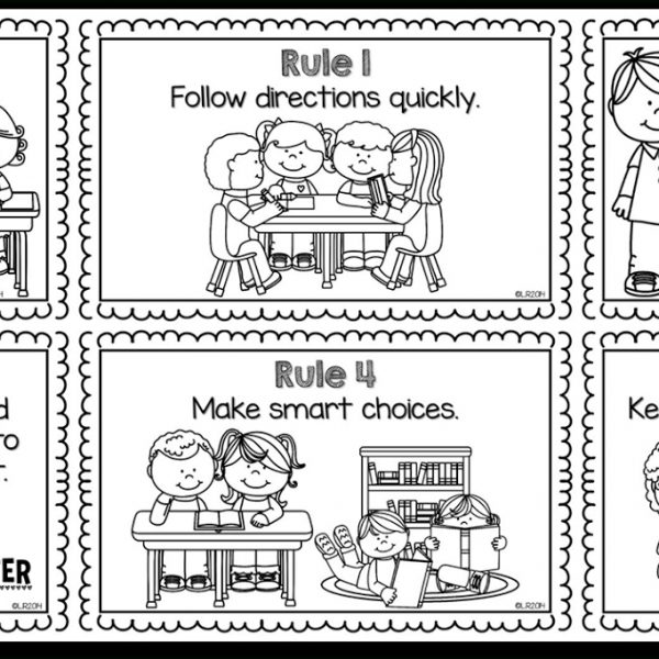 Classroom Rules Clipart Black And White.