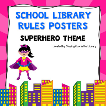 Library Rules Posters.