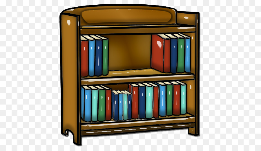 Library clipart Shelf Library Bookcase clipart.