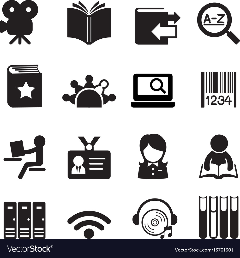 Library icons symbol 2.