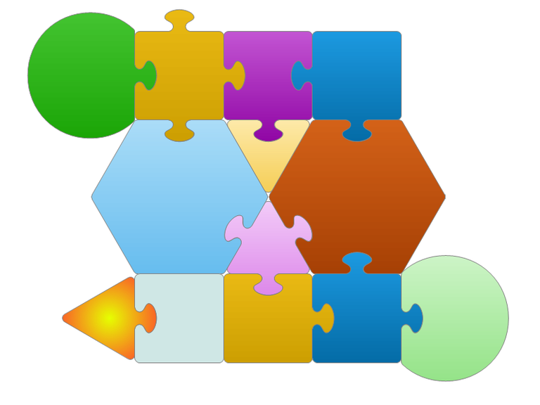 Clipart gallery of puzzle shapes — LibreOffice Extensions.